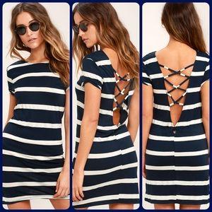 Billabong Sunset View Striped Shirt Dress